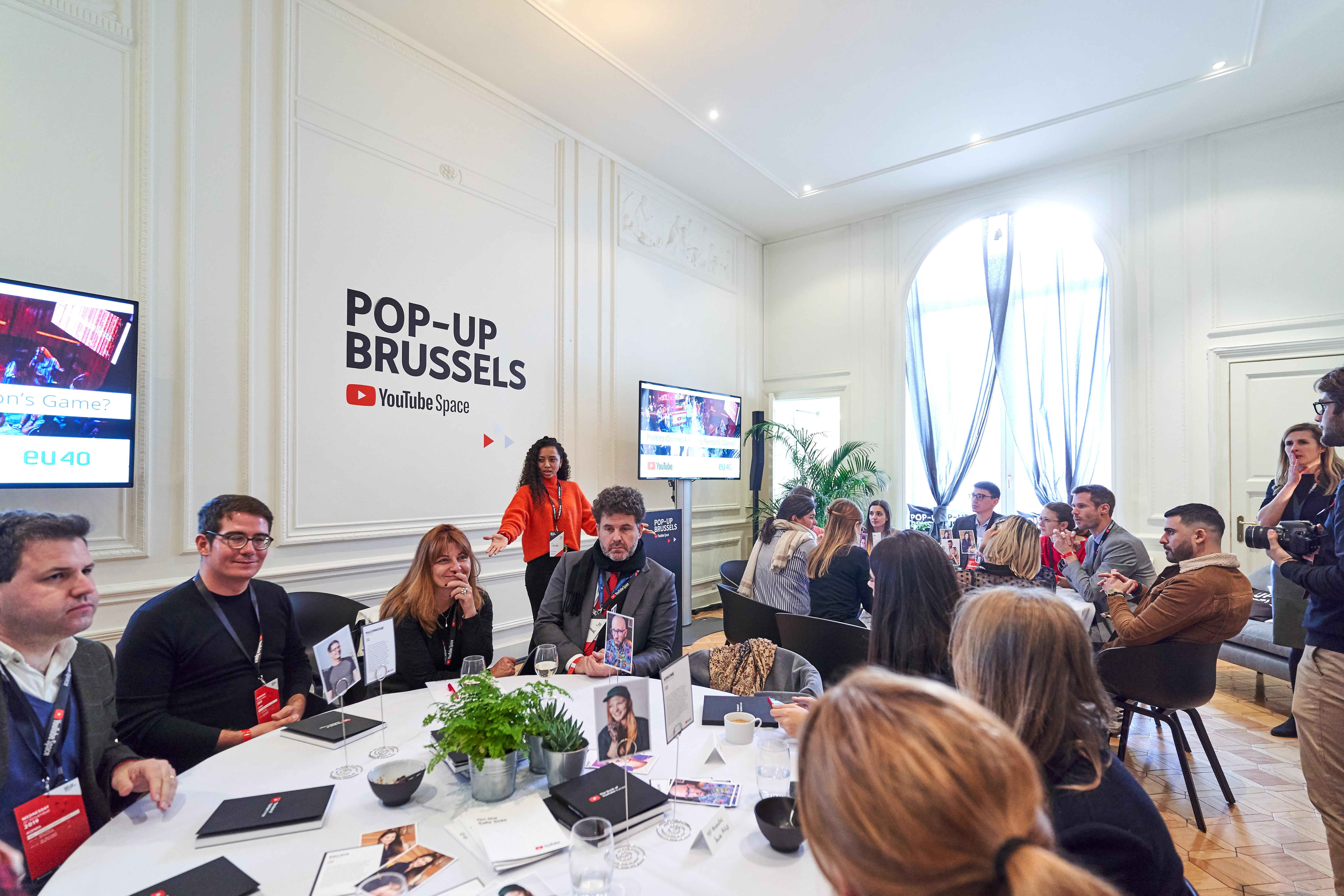 Round-table session - YouTube Pop-Up Space